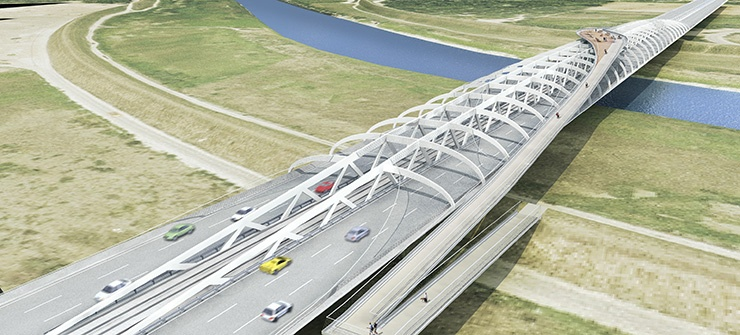 Jarun Bridge © nmpb Architekten